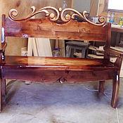Русский стиль handmade. Livemaster - original item Carved bench. Handmade.