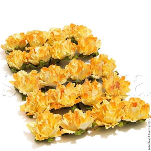 Свадебные цветы ручной работы. Ярмарка Мастеров - ручная работа. Купить Головки розочек из флизелина ручной работы упаковка 20шт SA115-224. Handmade.