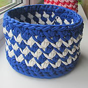 Для дома и интерьера handmade. Livemaster - original item A basket of knitting yarn interior. Material 100% cotton. Handmade.