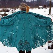 Одежда ручной работы. Ярмарка Мастеров - ручная работа Бирюзовое пальто. Handmade.