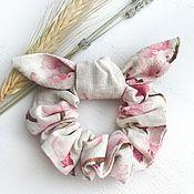 Украшения handmade. Livemaster - original item Fabric volume elastic band for hair, sakura print. Handmade.