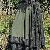 """Одежда ручной работы. Ярмарка Мастеров - ручная работа Бохо юбка """"Зелень розы """". Handmade."""