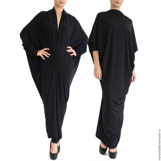 Платья ручной работы. Ярмарка Мастеров - ручная работа. Купить Длинное платье трансформер черное ENVY. Handmade. Черный