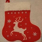Подарки к праздникам handmade. Livemaster - original item Red Christmas boot. Handmade.