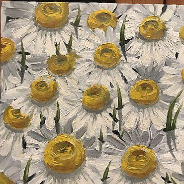 """Картины и панно ручной работы. Ярмарка Мастеров - ручная работа Картина """"Ромашки"""". Handmade."""