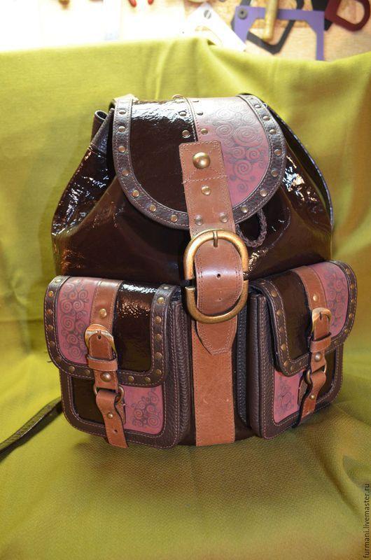 """Рюкзаки ручной работы. Ярмарка Мастеров - ручная работа. Купить Рюкзак""""БРАУНИ"""". Handmade. Коричневый, рюкзак ручной работы, рюкзак для девочки"""