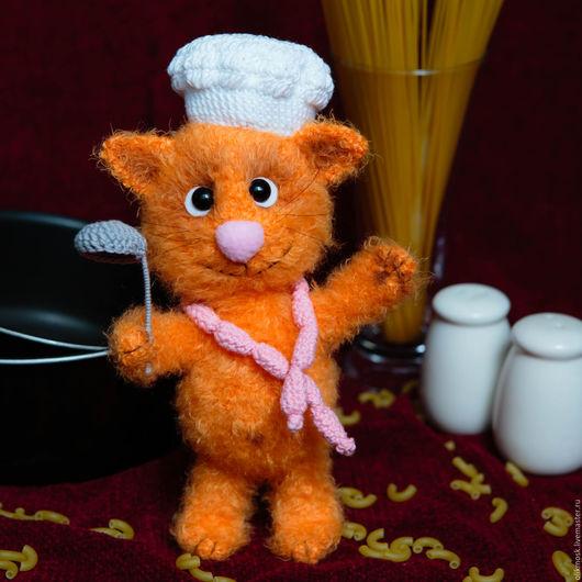 Игрушки животные, ручной работы. Ярмарка Мастеров - ручная работа. Купить Рыжий кот поваренок. Handmade. Рыжий, позитивный подарок