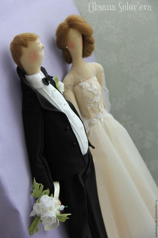 Подарки на свадьбу ручной работы. Ярмарка Мастеров - ручная работа. Купить Свадебная пара в стиле Тильда. Handmade. Чёрно-белый
