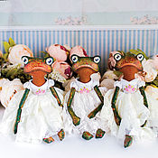 Куклы и пупсы ручной работы. Ярмарка Мастеров - ручная работа Лягушки текстильные интерьерные  куклы. Handmade.