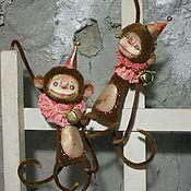 Куклы и игрушки ручной работы. Ярмарка Мастеров - ручная работа Пара обезьянок. Handmade.