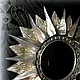 "Зеркала ручной работы. Зеркало солнце ""Аполлон - серебро"". VladiArt. Интернет-магазин Ярмарка Мастеров. Зеркало солнце, красивое зеркало"