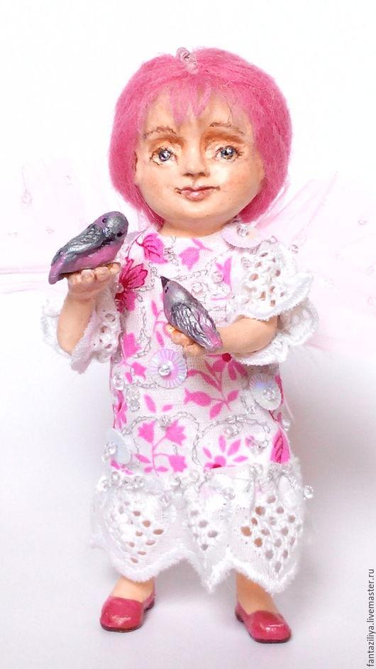 Авторская кукла `Розовая фея`.