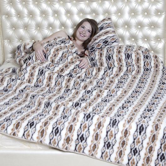 Текстиль, ковры ручной работы. Ярмарка Мастеров - ручная работа. Купить Одеяло, шерсть Мериноса Фольклор. Handmade. Шерсть