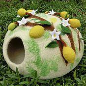 """Для домашних животных, ручной работы. Ярмарка Мастеров - ручная работа домик для котика  """"Лимонная роща"""" экстра-качество. Handmade."""