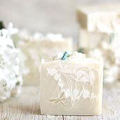 Косметика ручной работы. Ярмарка Мастеров - ручная работа «Белая сирень» Натуральное мыло с нуля. Handmade.