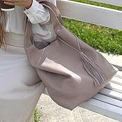 Сумки и аксессуары handmade. Livemaster - original item Shopper Bag Pink Bag Leather Bag Bag String Bag T-shirt Bag. Handmade.