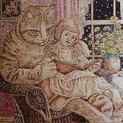 """Картины и панно ручной работы. Ярмарка Мастеров - ручная работа Картина """"Кошачьи сказки"""". Handmade."""