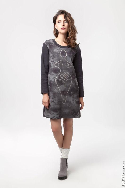 """Платья ручной работы. Ярмарка Мастеров - ручная работа. Купить Платье """"Загадочная женщина"""". Handmade. Темно-серый, сетка"""