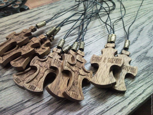 Кулоны, подвески ручной работы. Ярмарка Мастеров - ручная работа. Купить крестик резной. Handmade. Крестик, деревянный крестик, подвеска