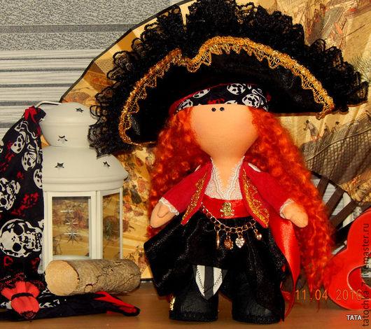 Коллекционные куклы ручной работы. Ярмарка Мастеров - ручная работа. Купить ПИРАТКА РЫЖАЯ ДЖЕСИКА. Handmade. Комбинированный, кукла интерьерная