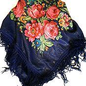 Винтаж handmade. Livemaster - original item Pavloposad shawl