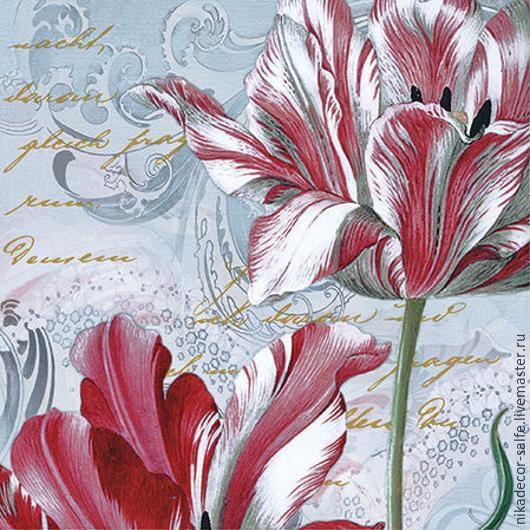 Декупаж и роспись ручной работы. Ярмарка Мастеров - ручная работа. Купить Величественные тюльпаны (SDL083900) 33х33 салфетка для декупажа. Handmade.