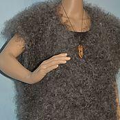Одежда ручной работы. Ярмарка Мастеров - ручная работа Пуховый жилет-безрукавка вязаный мужской женский 100% козий пух,. Handmade.