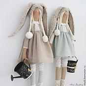 Куклы и игрушки ручной работы. Ярмарка Мастеров - ручная работа Тильда Сестрички Зайцевы. Handmade.