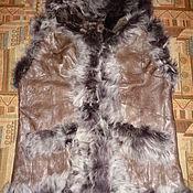 Одежда ручной работы. Ярмарка Мастеров - ручная работа Жилет-дубленка из натурального меха с капюшоном. Handmade.
