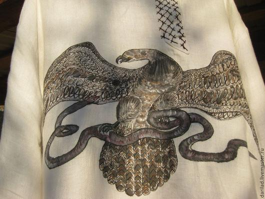 """Для мужчин, ручной работы. Ярмарка Мастеров - ручная работа. Купить Рубаха """"Орел"""". Handmade. Орел, косоворотка, рубаха вышитая"""
