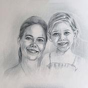 Картины и панно ручной работы. Ярмарка Мастеров - ручная работа Мама и доча. Handmade.