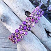 Украшения handmade. Livemaster - original item Bracelet made of artificial stone purple. Handmade.
