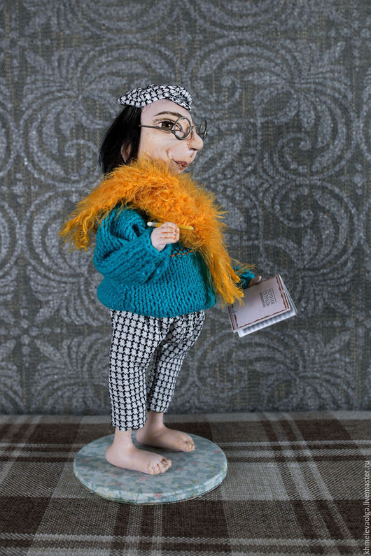 Коллекционные куклы ручной работы. Ярмарка Мастеров - ручная работа. Купить Композитор  Филимон. Handmade. Тёмно-бирюзовый, пряжа