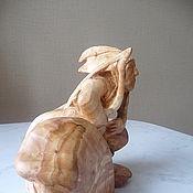 """Для дома и интерьера ручной работы. Ярмарка Мастеров - ручная работа Скульптура из дерева """"Индеец апач"""". Handmade."""