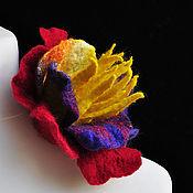"""Украшения ручной работы. Ярмарка Мастеров - ручная работа Цветок-брошь """"Мурано"""". Handmade."""