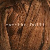 Материалы для творчества handmade. Livemaster - original item Viscose felting, 20 oz., brown. Handmade.