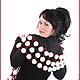 """Шарфы и шарфики ручной работы. Ярмарка Мастеров - ручная работа. Купить шарф """"Клюква в сахаре"""". Handmade. Бордовый, белый"""