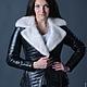 """Верхняя одежда ручной работы. Ярмарка Мастеров - ручная работа. Купить Кожаная куртка """"ALBINA-2"""". Handmade. Черный"""