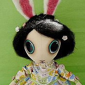 Куклы и игрушки ручной работы. Ярмарка Мастеров - ручная работа интерьерная кукла Зайка Нэди. Handmade.