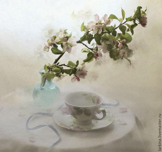 """Фотокартины ручной работы. Ярмарка Мастеров - ручная работа. Купить фотокартина """"Вдыхая яблоневый цвет"""". Handmade. Кремовый, цветы, интерьер"""