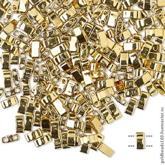 Для украшений ручной работы. Ярмарка Мастеров - ручная работа. Купить MIYUKI Half-Tila 191 metallic 24Kt gold finish. Handmade.