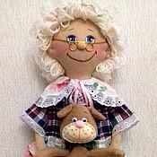 Для дома и интерьера ручной работы. Ярмарка Мастеров - ручная работа Бабушка пакетница с собачкой. Handmade.