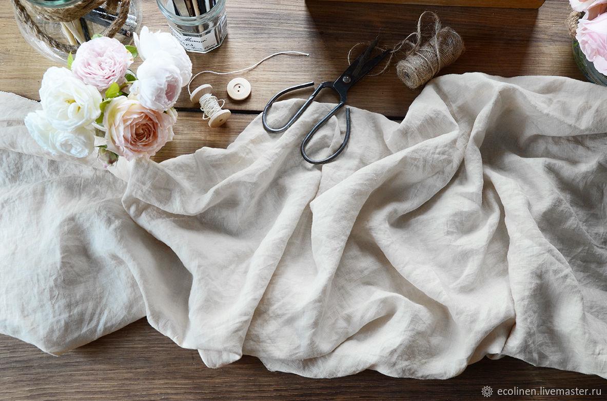 Льняная ткань. 260 см. 100% Лен. Белая. Умягченная – купить на Ярмарке Мастеров – IF6D7RU | Ткани, Минск