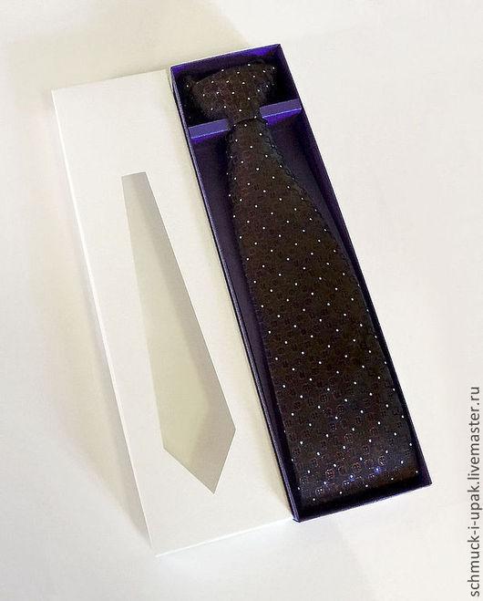 Упаковка ручной работы. Ярмарка Мастеров - ручная работа. Купить Коробка для галстука. Handmade. Тёмно-фиолетовый, для галстука, упаковка, коробки