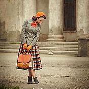 Аксессуары ручной работы. Ярмарка Мастеров - ручная работа шляпа ретро оранжевая. Handmade.