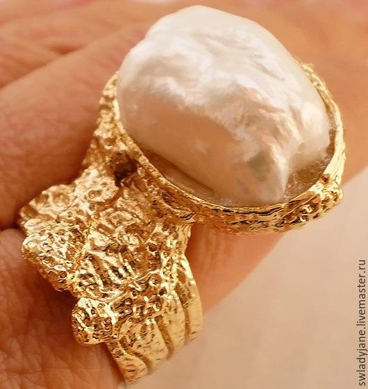 Кольца ручной работы. Ярмарка Мастеров - ручная работа. Купить YSL Кольцо с барочным жемчугом. Handmade. Красивое украшение