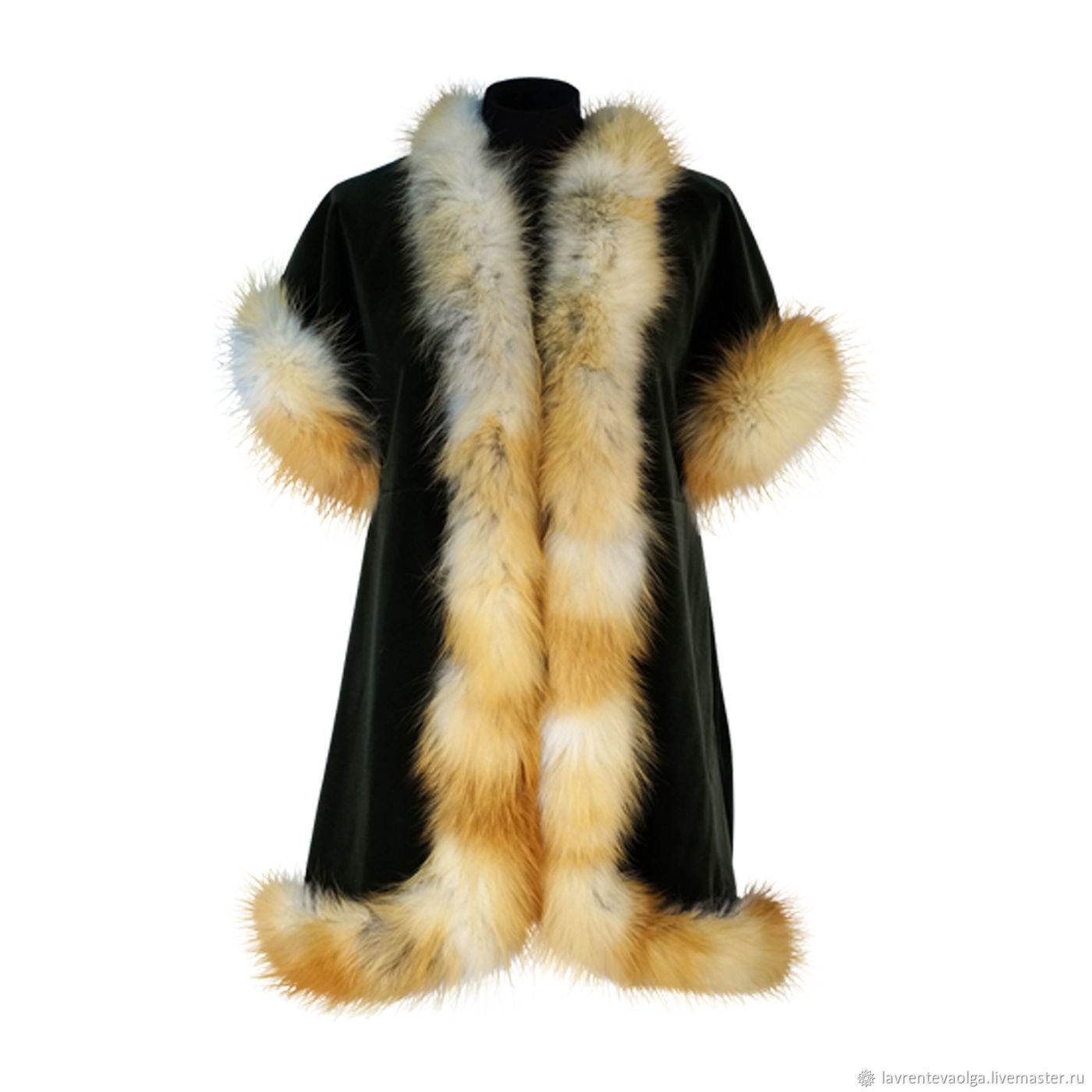 New Spring 2018! The vest is made of velvet with Fox fur, Vests, Moscow,  Фото №1