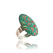Украшения handmade. Livemaster - original item Turquoise oval ring for the summer