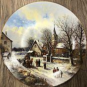 Предметы интерьера винтажные ручной работы. Ярмарка Мастеров - ручная работа Настенная тарелка из фарфора  Tirschenreuth 1991 год Германия. Handmade.