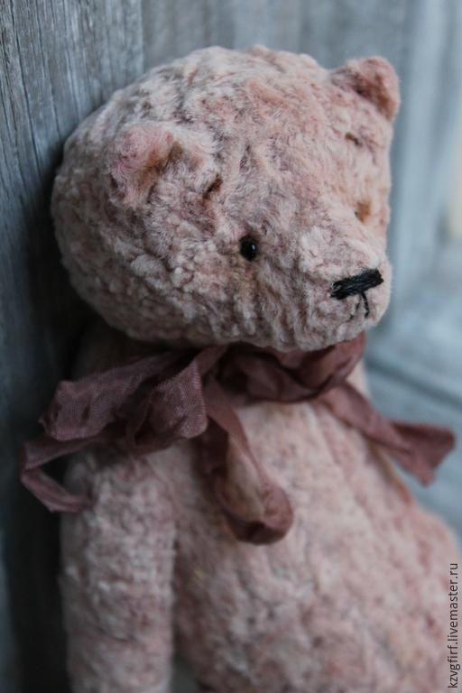 Мишки Тедди ручной работы. Ярмарка Мастеров - ручная работа. Купить Августин. Handmade. Бледно-розовый, мишка из плюша